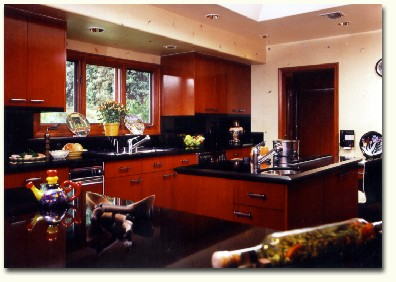 Cherry Kitchen Cabinets Black Granite cherrykitch1